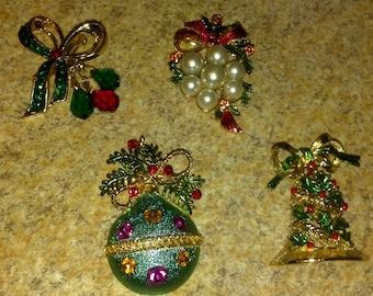Vintage Christmas Brooch's