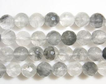 Cloudy Quartz Natural Genuine 6mm Round Cut Beads 15''L Semiprecious Gemstone Bead Wholesale Beads Supply