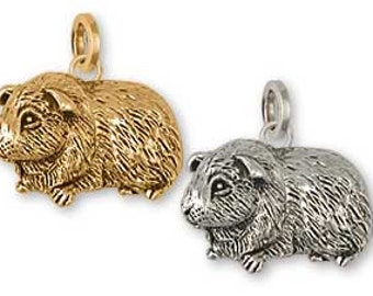 Solid Sterling Silver Guinea Pig Charm - GP6C