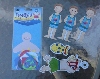 Swimming Boy Paper Dolls