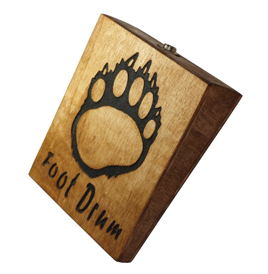 bear foot stompbox rhythm foot drum stomp box cigar by darkcatws. Black Bedroom Furniture Sets. Home Design Ideas