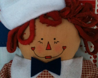 Handmade Adorable Raggedy Andie Doll