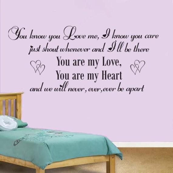 Bedroom Walls Song Baby Song Lyrics Vinyl Wall