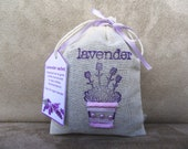 Lavender sachet (medium) in muslin bag, organic lavender, all hand-made