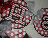 Minnie Mouse Banner red and white polka dot Banner
