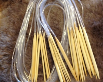 18 piece bamboo knitting needle sets