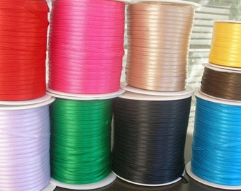 "15 Yards 1/8"" Satin Ribbon Your Choice Color"