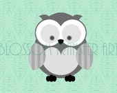 Owls Digital Graphics - Fabric Transfer - Download Image -  Iron on pillows, totes, t-shirts, paper, tea towels, bed spreads, napkins - 1528