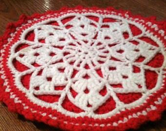 Hand Crocheted Trivet / Hot Plate