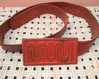 San Francisco MUNI Belt Buckle and Belt