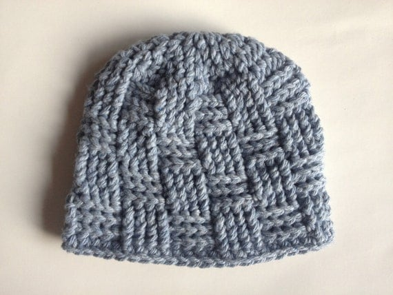 Basket Weave Hat Pattern Free : Free crochet basket weave beanie pattern manet for
