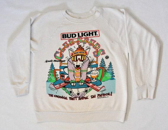 """Rare 1980's Bud Light """"Spuds Mackenzie"""" Sweatshirt - Small"""