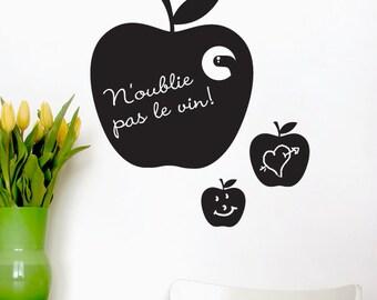 Apples - Adhesive Blackboard - H20 x W24