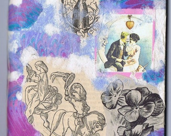 4 x 5 1/2 mini collage journal