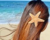 """Starfish Mermaid 3'' to 4""""  Hair Clip/Barrette - Bridal Accessories, Ariel Mermaid Hair Clip, Starfish Hair Accessories"""