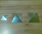 Orgone Aluminium Pyramid Mold / Mould - Handmade - Set of 3 in Giza / Cheops Dimensions