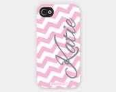 iPhone Case - Personalized Monogram - Zig-Zaggin Chevron