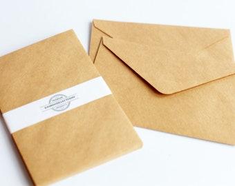 10 Envelopes - Blank Envelope- Brown Envelopes - Large Plain Envelopes - Kraft Envelopes- Ready to ship - Invitation Card