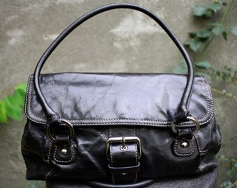Giani Bernini Black Leather, Shoulder Bag Purse