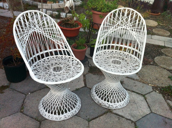 Vintage Russell Woodard Spun Fiberglass Patio Chairs By