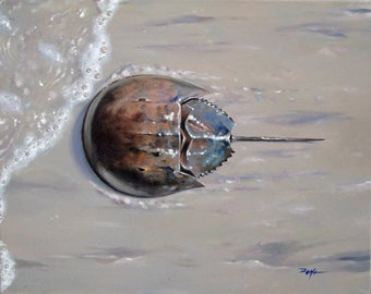 Limited edition 8x10 print of original Horseshoe crab acrylic painting