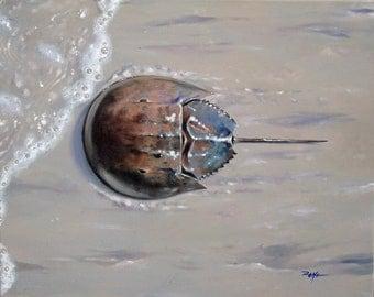 Limited edition 8x10 print of original Horseshoe crab acrylic painting