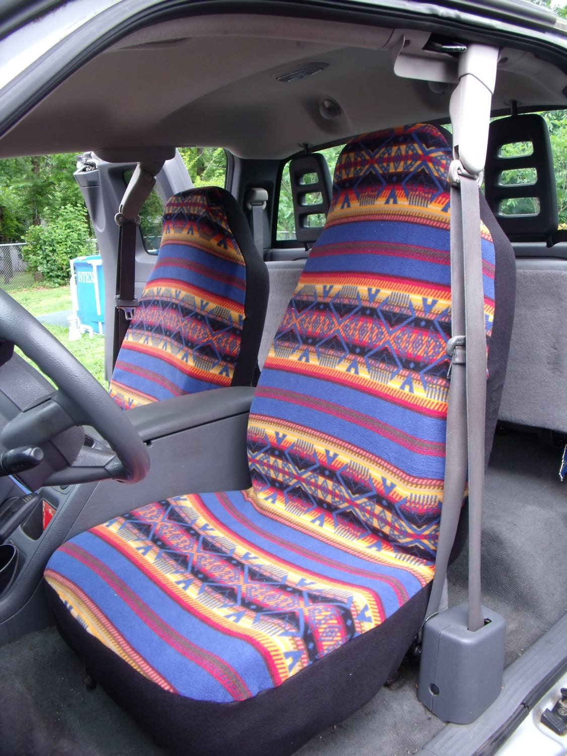 1 Set Of Tribal Print Custom Made Car Seat Covers By