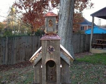 Fantastic Country Church Bird House