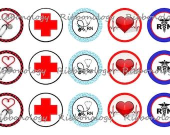 1 Inch Registered Nurse Bottle Cap Graphics 4x6 15 Images Per Sheet