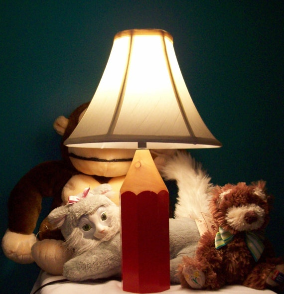 Awesome Lightolier Red Pencil Lamp
