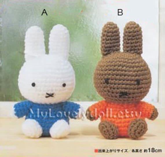 Miffy Amigurumi Crochet Pattern Free : Mini Miffy Rabbit Amigurumi Crochet PDF Pattern by ...