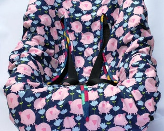 Pigs Can Fly Baby Car Seat Cover