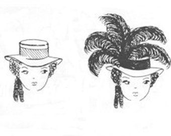Wn708 late 18th century 4 brim 5 band hat pattern for Colonial hat template