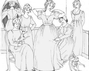 SS113 - Lady's Romantic Era Dress Sewing Pattern by Sense & Sensibility