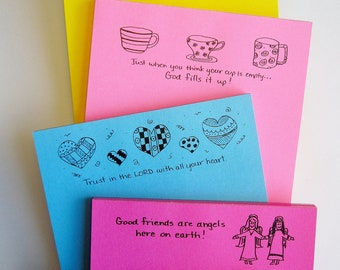 Friendship and Encouragement Notepads - Choose 2