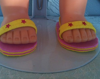 American Girl doll sandals - 18 inch doll shoes -