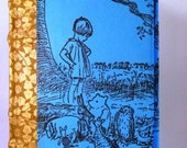 Pregnancy Journal Winnie the Pooh Hardbound Sketchbook Electric Blue Notebook