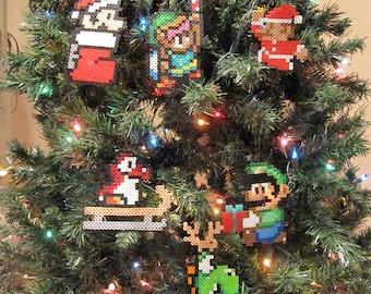 CHOOSE ANY 3 Handmade Nintendo Christmas Ornaments