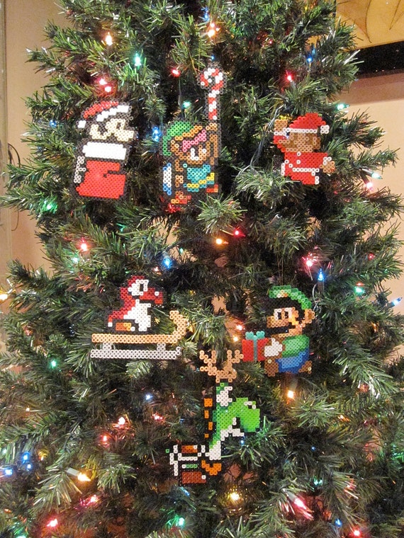 CHOOSE ANY 3 Handmade Nintendo Christmas Ornaments