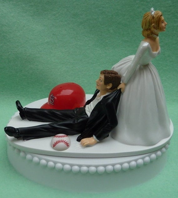wedding cake toppers baseball theme wedding cake topper st louis cardinals baseball sports 26390