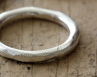 Distressed ring sterling silver