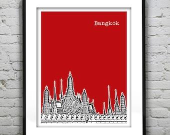 Bangkok Thailand Skyline Poster Art Print