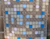 Custom Scrabble Rag Quilt - FOR MICHELLE W