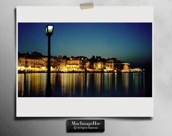 Harbour lights in Chania Crete a beautiful little town
