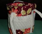 Prequilted fabric summer shoulder bag.