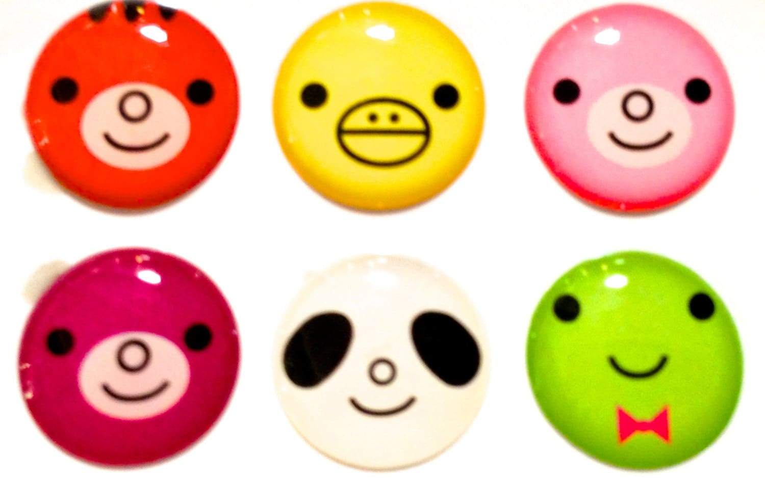animal faces 6 piece iphone home button stickers for apple