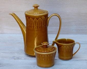 Vintage Coffee Serving Set Ceramic Enamel from 1970s