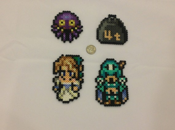 Final Fantasy VI Opera - Set of 4 Perler Bead Sprites