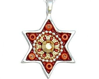 Oriental  Star of David Necklace for Women