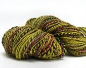 Handspun wool yarn for knitting, 6oz 171g - plied- 2 ply